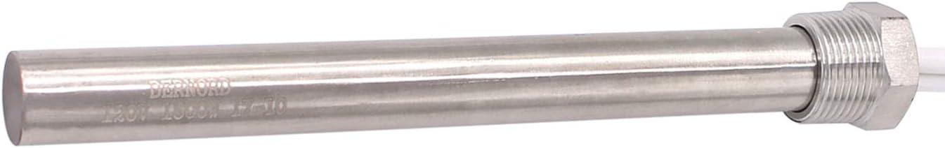 elemento calefactor de acero inoxidable multiusos Cartucho de calefacci/ón de 240 V y 1500 W con brida de 3//4 pulgadas