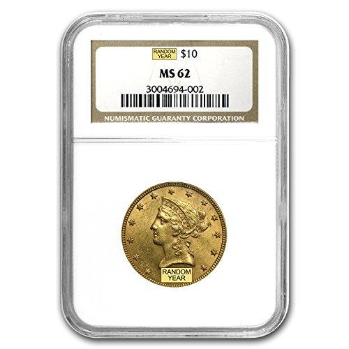 1850 – 1907 $10 Liberty Gold Eagle MS-62 NGC G$10 MS-62 NGC