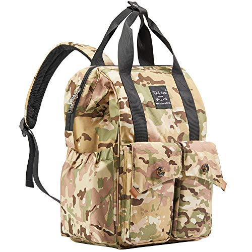 Catlin Go Go Diaper Bag Backpack Multi-Function Waterproof for Girl and Boys Large Capacity Stylish Durable and Insulated (Camo)