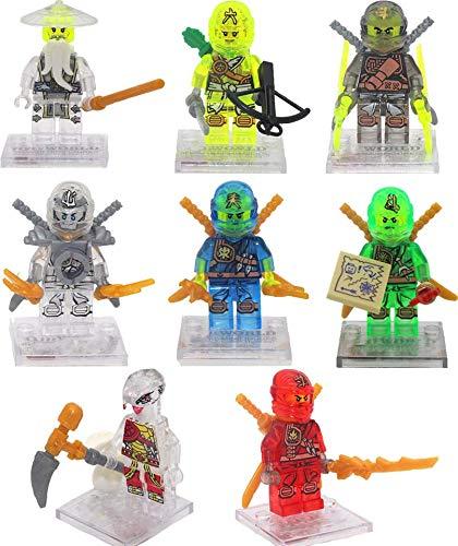 8 PCS Ninjago Building Blocks Action Figures - Ninja Mini Figures - Superhero Mini Building Block Action Figures - Building Toys - Ninja - Super Hero ...