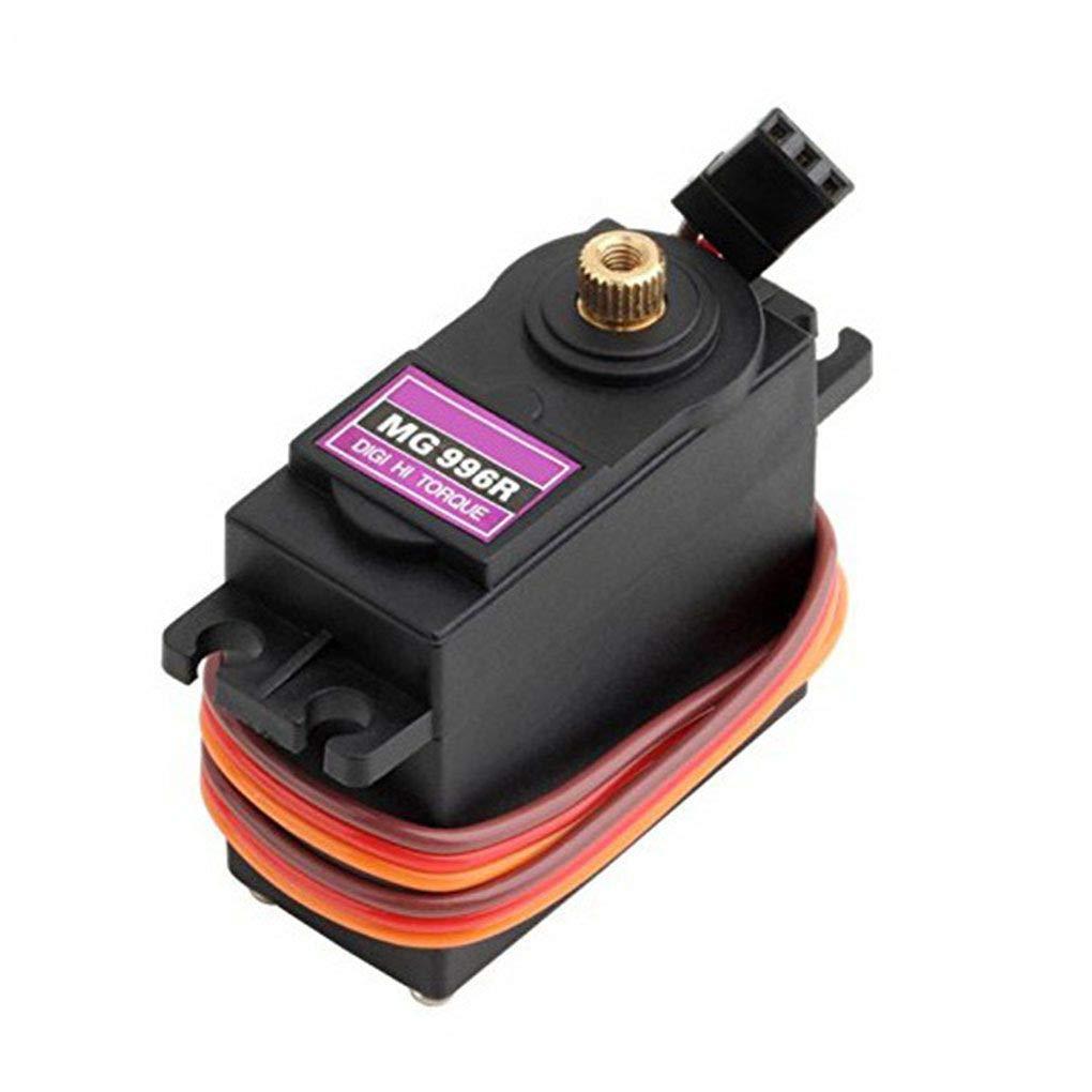 Forbestest 4PCS MG996R 55g del Engranaje del Metal de par servo Digital Compatible para Futaba JR RC helic/óptero del Barco del Coche del Robot