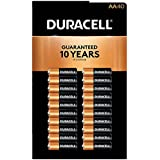 Duracell MN1500 Duralock Copper Top Alkaline AA Batteries - 40 Pack