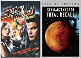 Total Recall (Special Edition) [DVD] (2007) & Starship Troopers 3: Marauder Sci-Fi DVD Movie Set Arnold Schwarzenegger; Sharon Stone