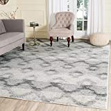 Safavieh Adirondack Collection ADR106P Silver and Charcoal Modern Distressed Area Rug (9′ x 12′) For Sale