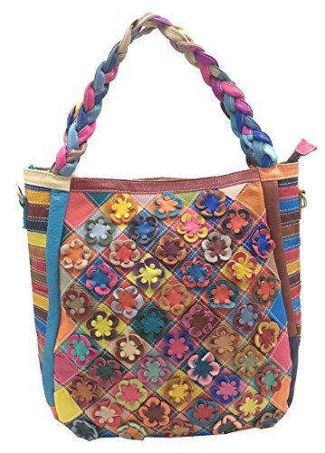 (Heshe Women's Hobo Shoulder Bags Cross Body Tote Handbags Purses with Flower Summer)