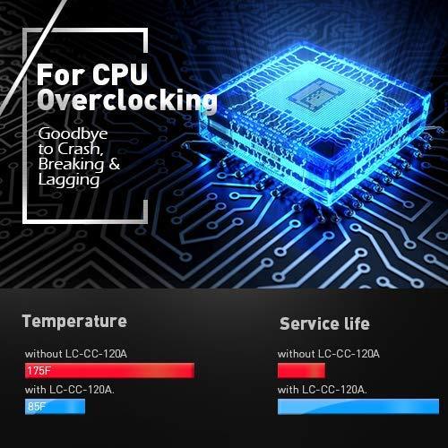 Kupfer-Basis stark w/ärme ableitenden CPU-k/ühler LC Power Fl/üssiges CPU-k/ühler Micro flossen Well Balanced AMD- /& Intel-CPU-k/ühler