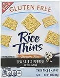 Nabisco, Rice Thins, Sea Salt & Pepper, Brown Rice Thin Rice Snacks, Gluten Free, 3.5oz Box (Pack of 4)
