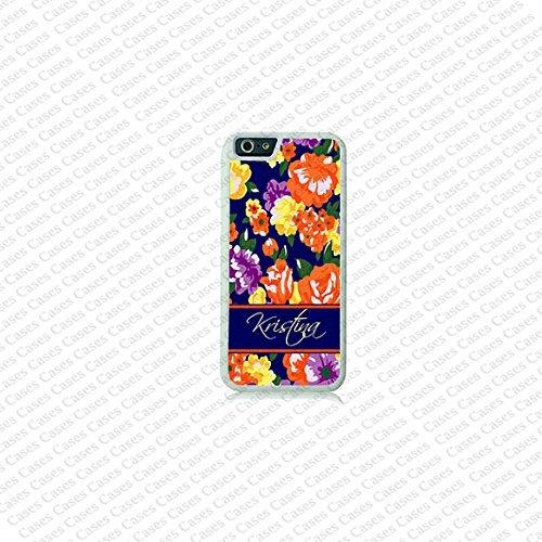 Krezy Case Floral Pattern Monogram iPhone 6 Case, Monogram iPhone 6 Cover, Custom iPhone 6 Cases, Cute monogram...
