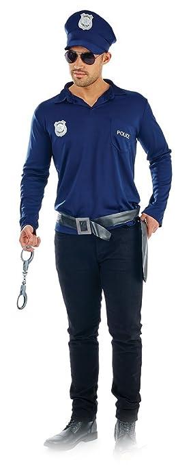 1acf5ebb29 Cop Kit Mens Kit Fancy Dress Officer Police Mans Uniform Adults Costume Set