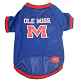 Mirage Pet Products Mississippi Ole Miss Jersey for Dogs and Cats, Large