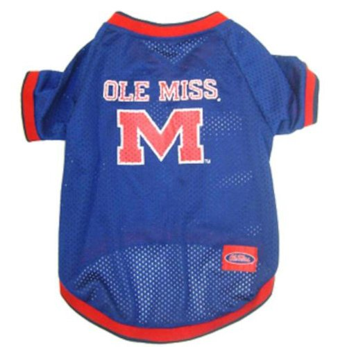 Mirage Pet Products Mississippi Ole Miss Jersey for Dogs and Cats, X-Small