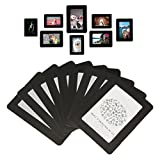 Lubber 12-pack Magnetic Picture collage Frames for Refrigerator 4x6, 3.5x5, 2.5x3, Black