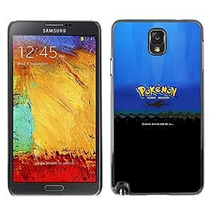 LECELL--Funda protectora / Cubierta / Piel For Samsung Note 3 N9000 -- Meter Monster Plata Versión --