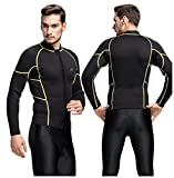 Fortuning's JDS® 3mm Neoprene long sleeve chill-proof top wetsuit jacket for men