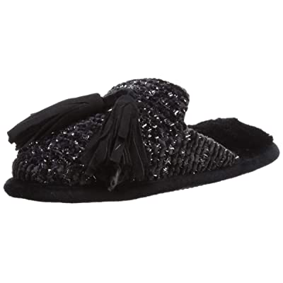 Dearfoams Women's Chenille Closed Toe Scuff with Tassels Slipper | Slippers