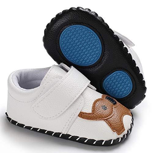Meckior Infant Baby Girls Sandas Summer Soft Leather No-Slip Princess Shoes (6-12 Months, G-White)