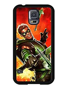Akatsuki Galaxy Case's Shop New Style 3803209M339010477 Samsung Galaxy S5 I9600 case, Green Arrow Anime Style Snap-on Cool Case Cover Fit for Galaxy S5