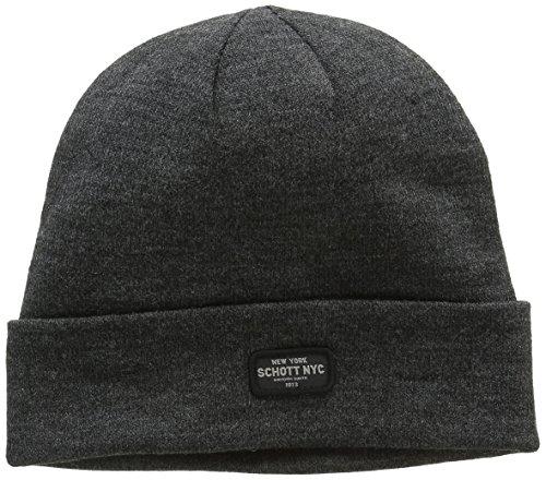 Schott NYC Docker, Sombrero para Hombre Gris (H.ANTHRACITE)