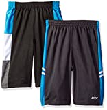 STX Big Boys Athletic Short and Packs, 2 Pack - Black/Turquoise - SI33, 10/12