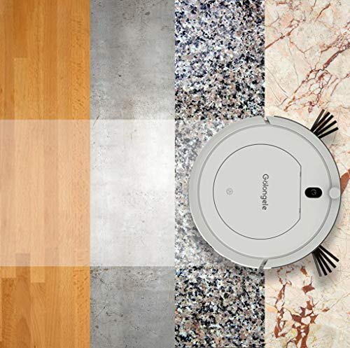 Golongele HB1001 Smart Clean Robot Vacuum Cleaner with Remote Control HEPA Filter, Mini and Thin, Good as Housekeeper robo for Hardwood Floors, Carpet, pet Hair vacuuming and Cleaning, Manual recharge