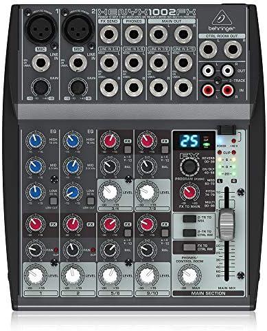 BEHRINGER XENYX 1002FX - Mesa de mezcla pasiva con efectos: Amazon.es: Instrumentos musicales