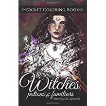 Mini Witches, Potions and Familiars: Pocket Coloring Book (Enchanted Colors) (Volume 6)