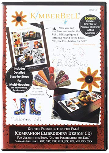 Kimberbell Oh The Possibilities for Fall! Embroidery cd