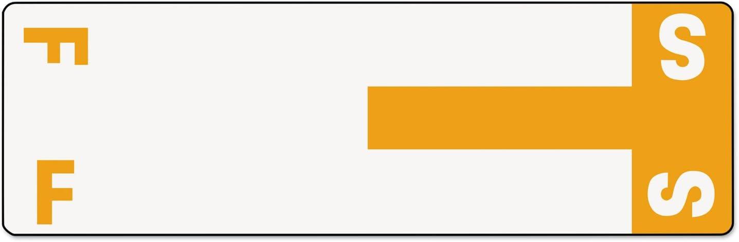Smead 67157 Alpha-Z Color-Coded First Letter Name Labels F /& S Orange 100//Pack