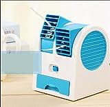 SL&LFJ Desktop mini fan, Adjustable angles scented usb electric air conditioning fan mini cooler fan personal fan-Blue 11.8x11x15cm(5x4x6inch)