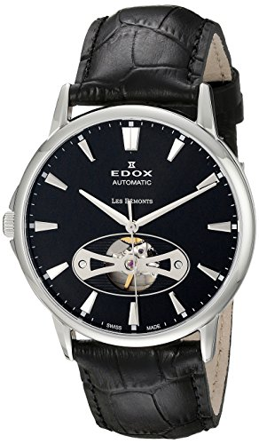 Edox-Mens-85021-3-NIN-Les-Bemonts-Stainless-Steel-Watch-with-Black-Band