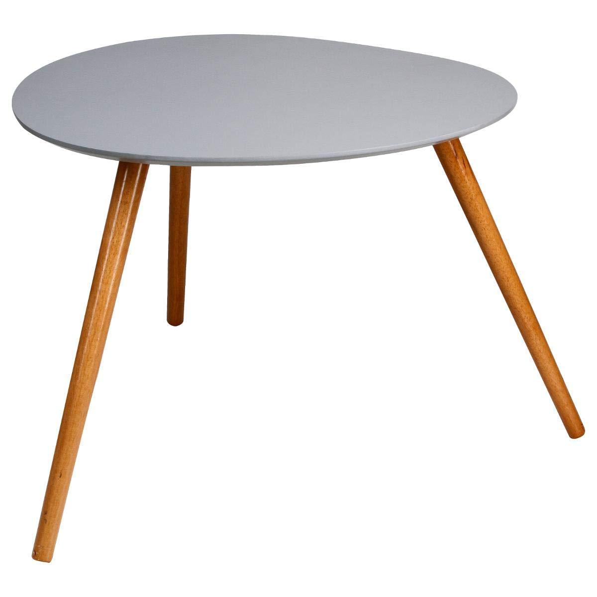 Lot de 2 tables basses gris Mileo
