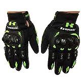 JIN Glove Motorcycle Gloves,Cycling Gloves, Mountain Bike Gloves, Road Cycling Gloves, Cycling Gloves, Half Finger, Anti-Slip, Sports, Work Gloves, Kawasaki, l