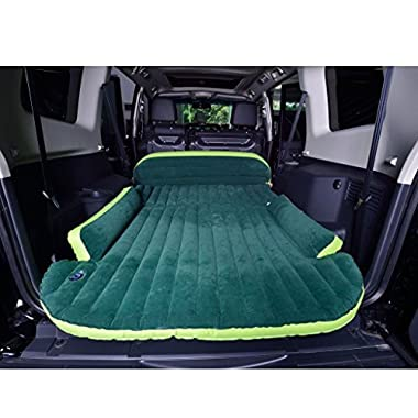 Wolfwill SUV Dedicated Mobile Cushion Extended Travel Mattress Air Bed Inflatable Thicker Back Seat (Green)