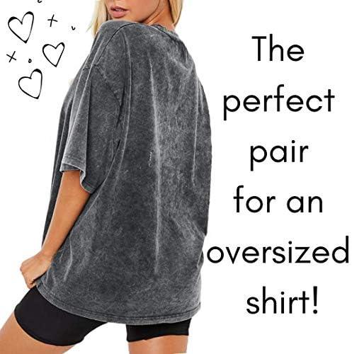 Dynec - Pantalones cortos de ciclismo para mujer, 2 unidades, color negro y gris, para descansar, ejercicio, yoga, moda 8