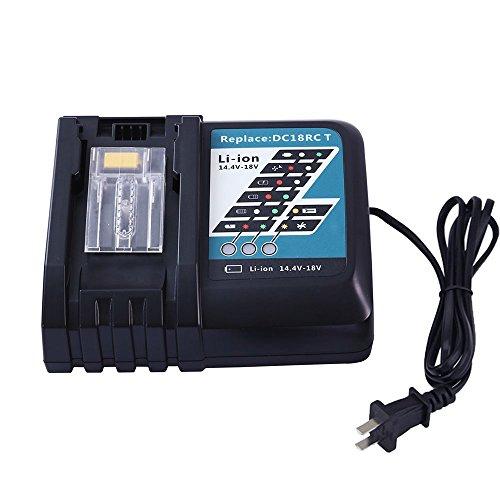 Topbatt DC18RC Battery Charger for Makita 14.4V-18V Lithium ion Battery BL 1815 BL1830 BL1840 BL1850 BL1430 BL1440 BL1450 by Topbatt
