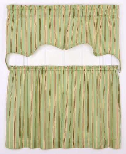 Ellis Curtain Warwick Medium Scale Stripe 70 By 28 Inch Empress Lined Swag Valance Green 2 Piece Buy Online In Grenada At Grenada Desertcart Com Productid 19946272