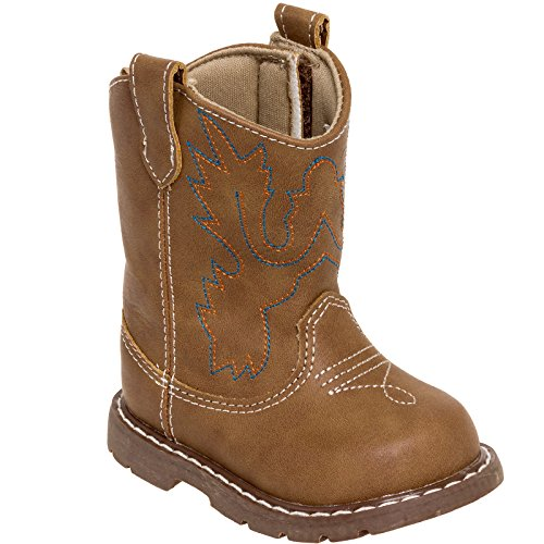 Baby Deer Girl's Western Cowboy Boot Shoes (Light Brown, 11) (Tn Walking Horse)