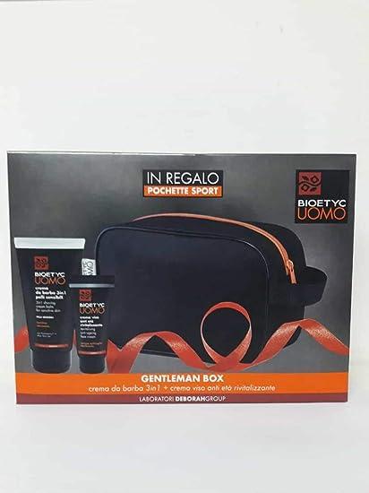 Deborah Milano – Bioetyc Hombre – Estuche Gentleman Box crema de barba 3 en 1 150 ml + crema facial antiedad revitalizante 50 ml + bolsa regalo: Amazon.es: Belleza