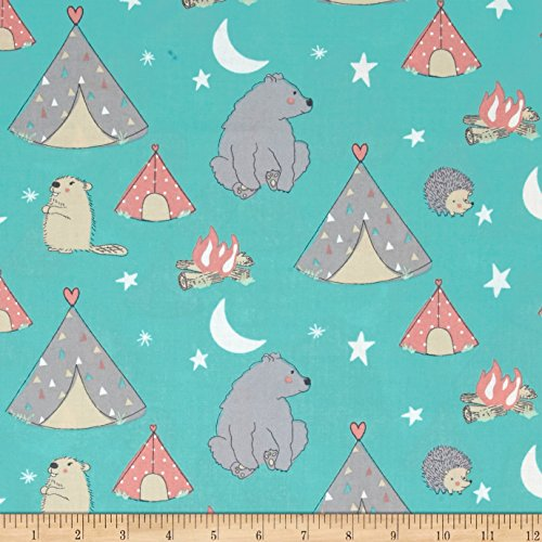 Springs Creative Products Nursery Camp Wee One campsite Multi Fabric By The - Nursery Fabrics