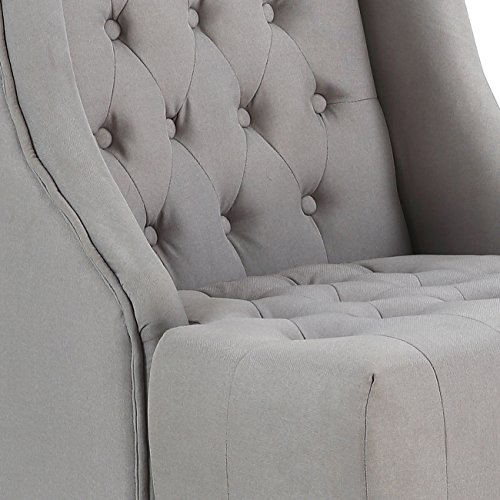Groovy Belleze Modern Wingback Tufted Nailhead Accent Chair Velvet Bralicious Painted Fabric Chair Ideas Braliciousco