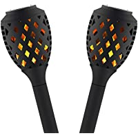 2-Pack Peatop Outdoor Torch Patio Led Solar Lights
