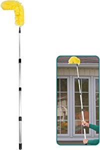 Daisypower Gutter Cleaning Brush Roofing Guard Cleaner Tool with Telescopic Extension Pole, Easy Remove Leaves and Debris from The Ground