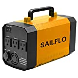200WH Portable Generator Power Inverter Rechargeable Lithium Battery Pack 300W Pure Sine Wave Inverter Emergency Power Supply Charged by Solar/AC Outlet/Cars with 3 AC & 4 DC 12V & 4 USB Ports