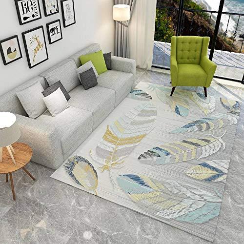 Moktasp Nordic Geometric Modern Soft Carpet for Living Room Bedroom Non-Slip Antifouling Area Rugs Decor Toddler Rugs