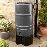 Harcostar Grey 227 litre Water Butt & Raintrap Diverter + Stand