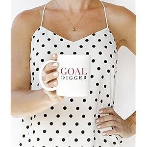 Goal Digger Coffee Mug - in use