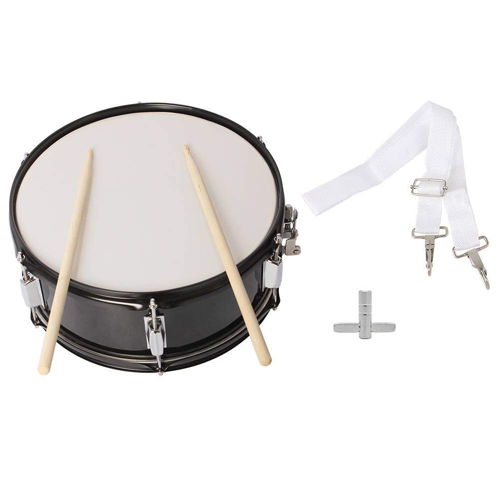14 x 5.5 inches Professional Marching Snare Drum & Drum Stick & Strap & Wrench Kit Black by SHUTAO (Image #6)