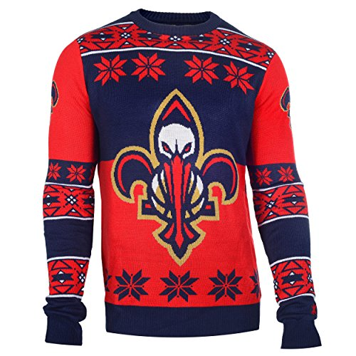 New Orleans Pelicans Big Logo Ugly Crew Neck Sweater Extra Large]()