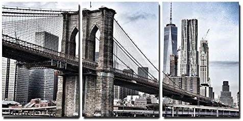 Retro Vintage Bridge Canvas Canvas Picture Wall Picture Art Print L1773