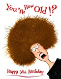 Best Old Friend Friends Candles - Happy 36th Birthday: You're How Old!? Notebook, Journal Review